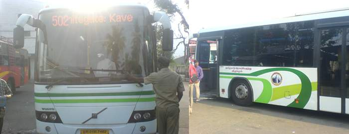 Volvo bus service from Vellore to chennai